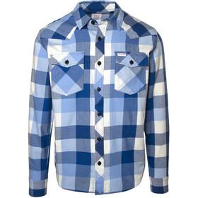 Topo Designs Mountain Big Plaid T-shirt Homme, blue